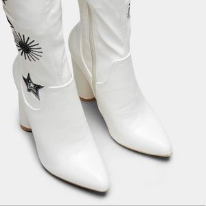 koi Shoes - KOI footwear Astrid star and moon over knee boot